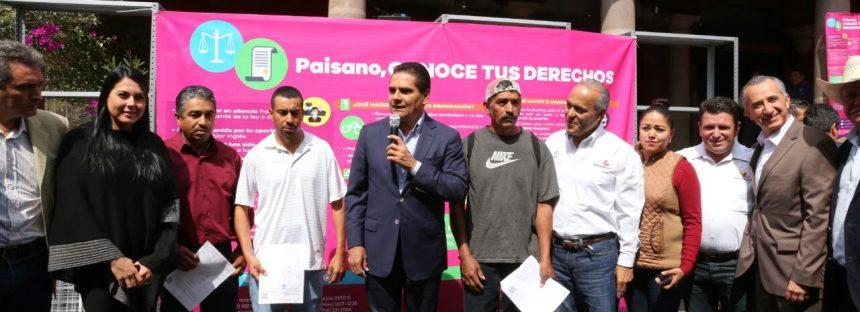 Apoyos de 5 mdp a migrantes son entregados en Michoacán