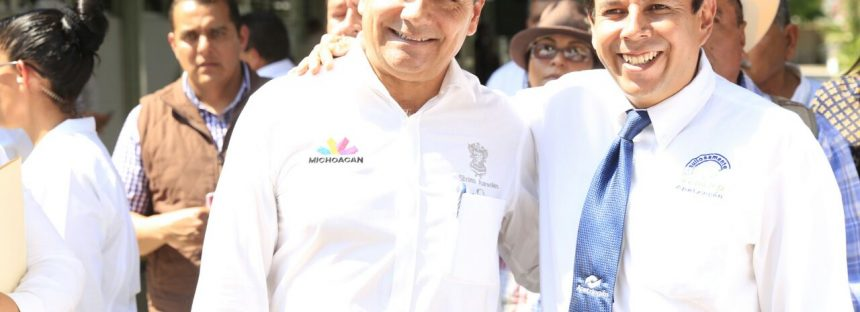 Inaugura Gobernador obras por 4.5 mdp en Apatzingán