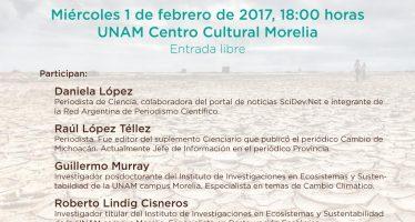 Mesa redonda en Morelia: Cambio climático y ¿cambio mediático?: perspectivas y desafíos en la práctica periodística
