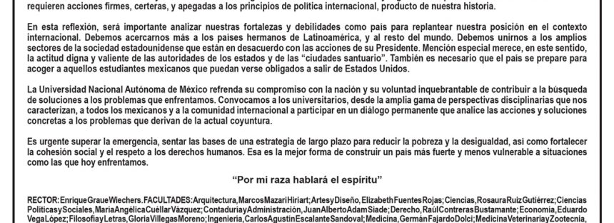 La UNAM, por México