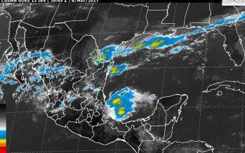 En Hidalgo y Puebla, tormentas muy fuertes. En Coahuila, Nuevo León y Tamaulipas, vientos de hasta 60 km/h con posibles torbellinos