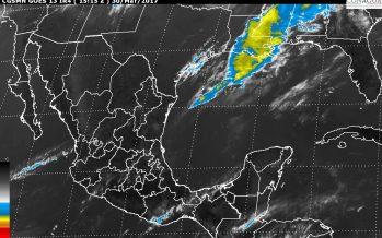 Para hoy, tormentas fuertes y granizadas, en Puebla, Veracruz, Tabasco, Oaxaca y Chiapas