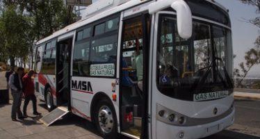 Inicia en Puebla, renovación del transporte público con uso de gas natural por diesel