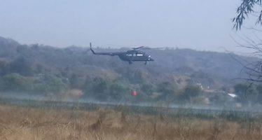 En Michoacán, la PF apoya el combate a incendios forestales