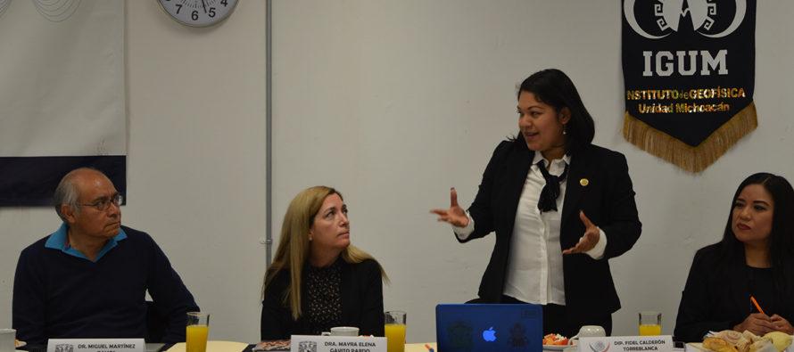 Revisan financiamiento a ciencia, investigadores de la UNAM Campus Morelia y diputados federales