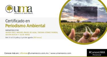 Certificado en Periodismo Ambiental de la Universidad del Medio Ambiente