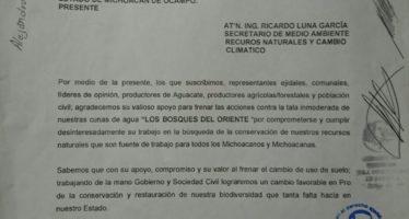 Casi 800 ejidatarios, comuneros y productores del Oriente respaldan acciones contra cambio ilegal de uso de suelo