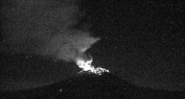 Sin incidentes, se reportan 82 exhalaciones en el volcán Popocatépetl