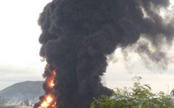 Se pierden 500 mil barriles de petróleo por incendio en refinería de PEMEX en Salina Cruz