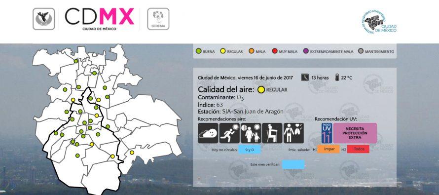 Calidad del aire regular en la zona metropolitana