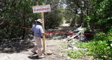Clausuran un humedal en Ría de Progreso donde opera tiradero clandestino de basura