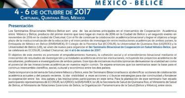 3er Seminario Binacional de Cooperación en Salud México-Belice