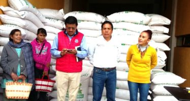 Se entregan 15 toneladas de semilla de avena en Salvador Escalante