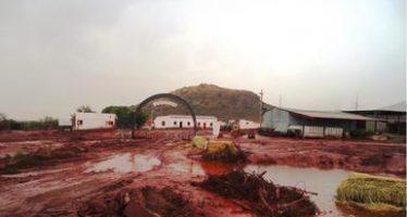 Supuestamente no tóxico, derrame de jales de la Minera del Norte, en Chihuahua