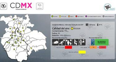 Permanece regular la calidad del aire en la zona metropolitana