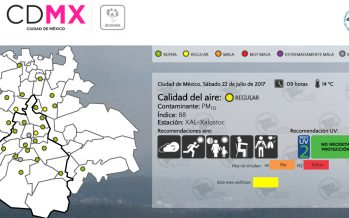 Persiste regular la calidad del aire en CDMX