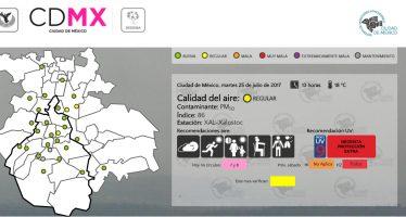 Calidad del aire continúa regular en la zona metropolitana