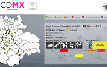 Calidad del aire regular nuevamente en CDMX