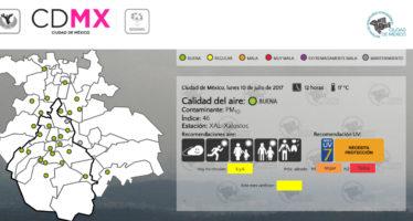 Calidad del aire en buen estado para CDMX