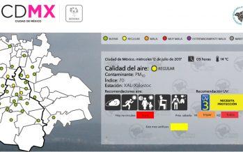 Continúa regular la calidad del aire en CDMX