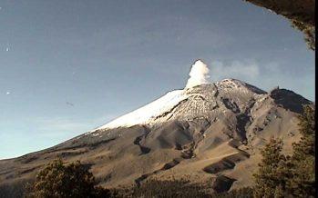 Volcán Popocatépetl se encuentra en amarillo fase dos en el semáforo de alerta volcánica