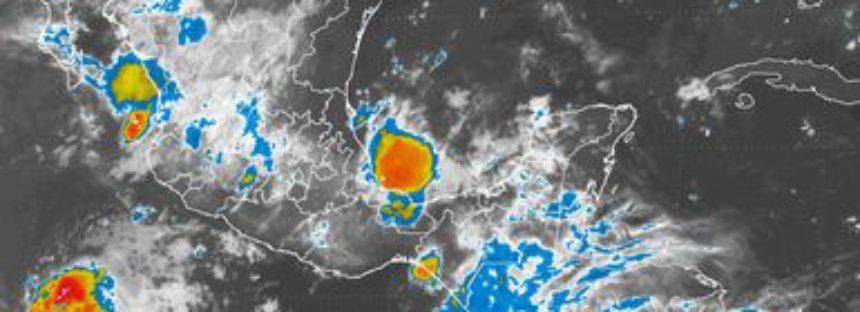 Tormentas intensas se pronostican para el occidente, sur y sureste del país