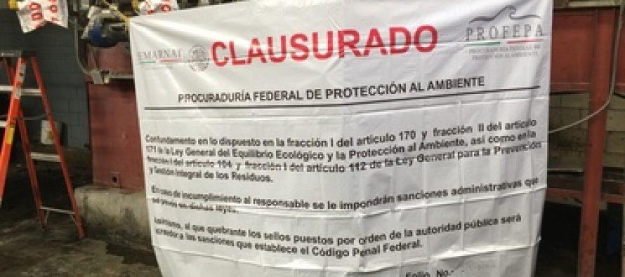 Elementos de la PROFEPA clausuran a Lavandería Industrial Maypa, S.A. de C.V.