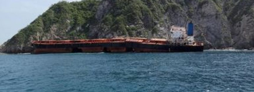 """Se detectan rastros de hidrocarburos en la zona marítima de encallamiento del buque """"Los Llanitos"""""""