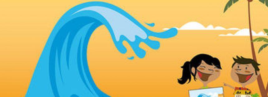 Concurso infantil de cuento corto y pintura ¡Olas gigantes! ¡Un tsunami!