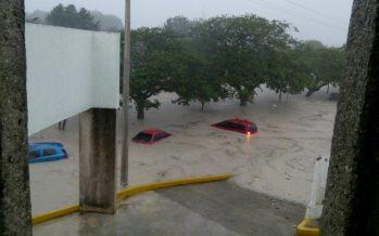 Activan Plan MX por tormenta Franklin; severas inundaciones en Campeche