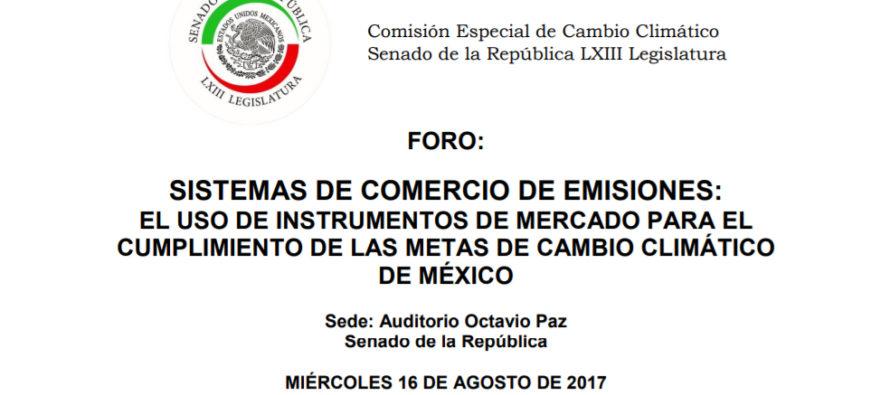 Sistemas de comercio de emisiones: El uso de instrumentos de mercado para el cumplimiento de las metas de cambio climático de México