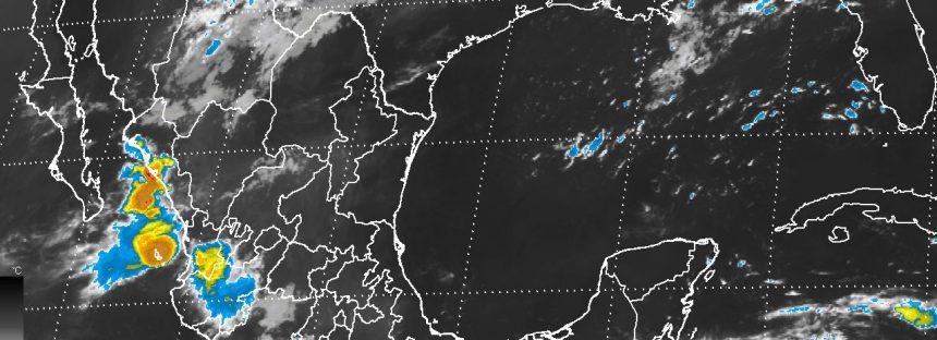 Intensas tormentas hoy en Chiapas y muy fuertes en Sinaloa, Nayarit, Tabasco y Oaxaca; viento en el norte