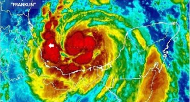 Riesgo en barra de Nautla por impacto de Franklin que podría reingresar al continente como huracán categoría 1