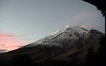 Reporte de actividad del volcán Popocatépetl