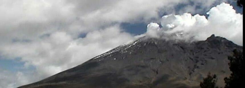 Continúa el monitoreo del volcán Popocatépetl