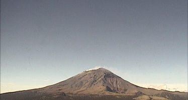 Volcán Popocatépetl continúa en amarillo fase 2 en el semáforo de alerta volcánica