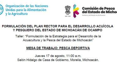 Van por el ordenamiento y desarrollo sustentable de la pesca y acuacultura en Michoacán