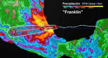Franklin ya es huracán clase 1 e impactará Veracruz en la madrugada, entre Vega de Alatorre y Laguna Verde