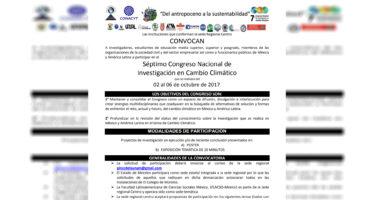 Séptimo Congreso Nacional de Investigación en Cambio Climático