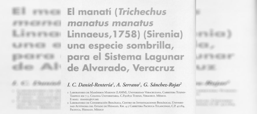 El manatí (Trichechus manatus manatus Linnaeus, 1758) (Sirenia) una especie sombrilla para el Sistema Lagunar de Alvarado, Veracruz