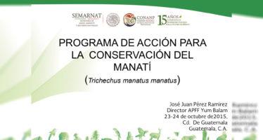 Programa de acción para la conservación del Manatí (Trichechus manatus manatus)