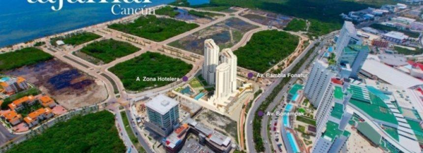 Clausuran proyecto Infinity en el Malecón Tajamar de Cancún, Quintana Roo