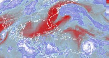 Tormentas intensas se esperan al sur del territorio nacional