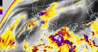 Tormentas intensas se esperan al sureste del territorio nacional