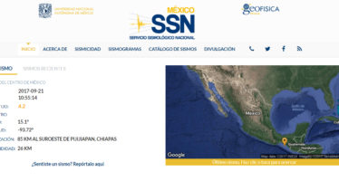 Se registra sismo de 4.2 grados 85 kilómetros al suroeste de Pijijiapan, Chiapas
