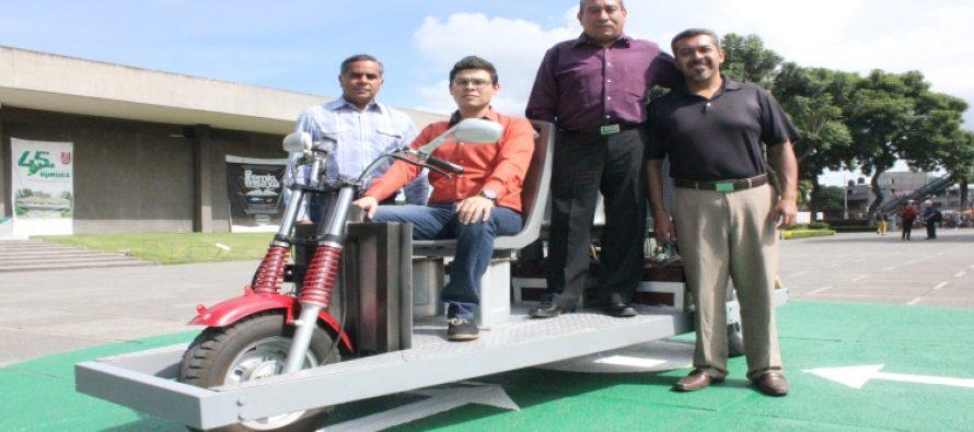 Investigadores del IPN desarrollan y manufacturan vehículo eléctrico que sustituiría bici y moto taxis