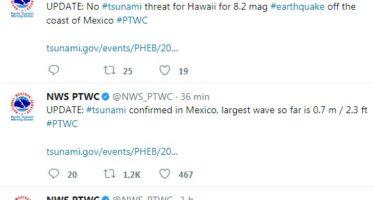 Alerta de tsunami con olas de 4 metros en el Pacífico; réplicas en Salina Cruz, Oaxaca y actualización: Sismo de 8.4