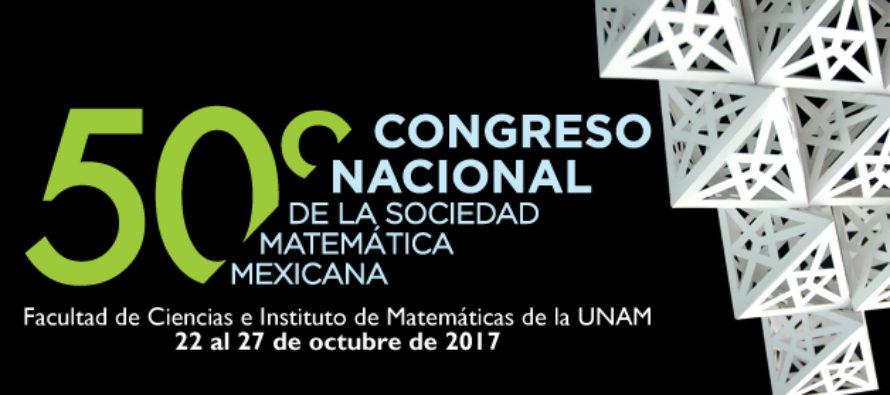 En octubre, L Congreso Nacional de la Sociedad Matemática Mexicana