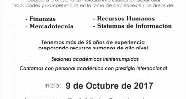 Abiertas hasta el viernes 13 de octubre, inscripciones a la Maestría en Administración en la FCCA
