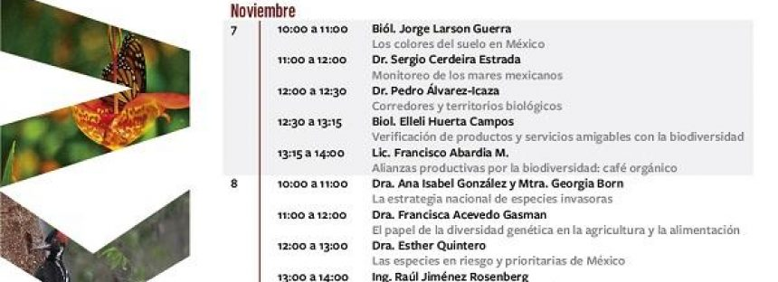 Ciclo de conferencias: Biodiversidad mexicana